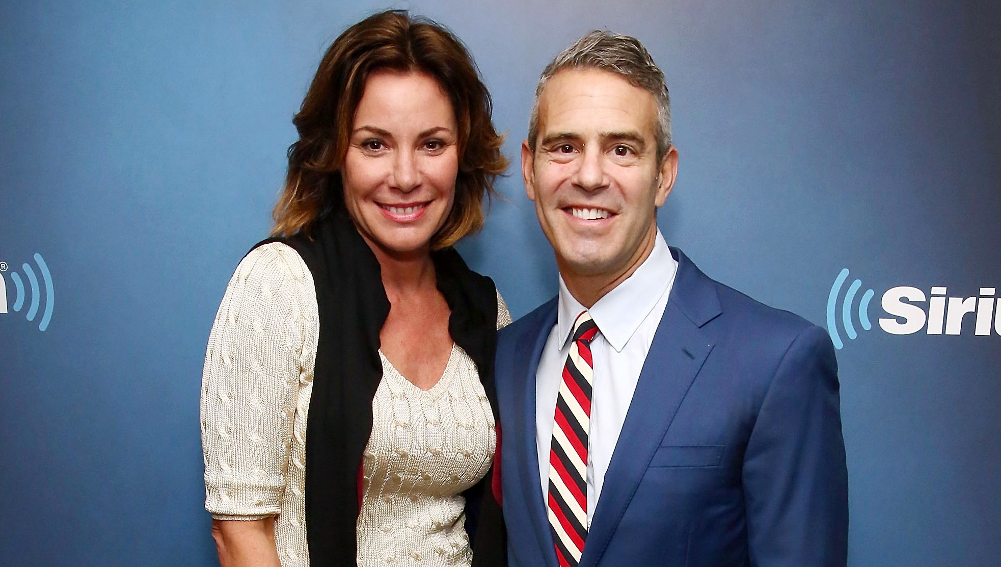 Luann de Lesseps and Andy Cohen